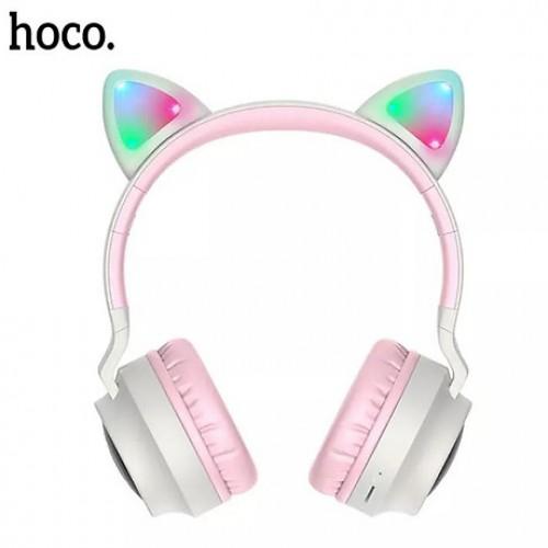 Tai Nghe Bluetooth Headphone Tai Mèo V5.0 Có MIC Hoco W27